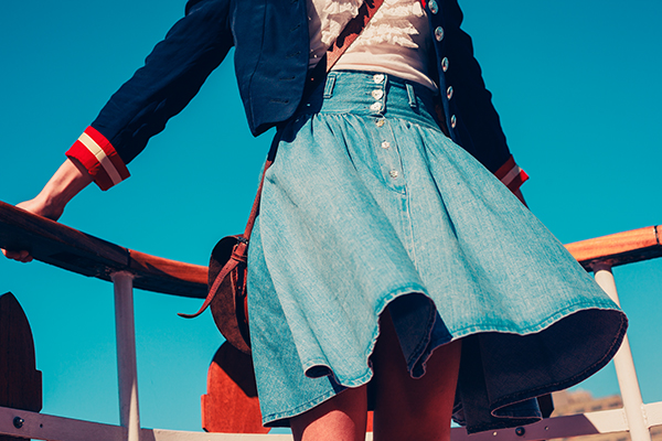 las faldas de frezza jeans